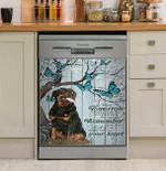 Rottweiler When You Think Of Mefor Dog Lover Dishwasher Cover Sticker Kitchen Decor