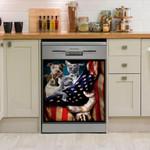 Pitbull America Flag Dishwasher Cover Sticker Kitchen Decor