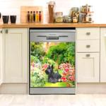 Scottish Terrier Flower Field Dishwasher Cover Sticker Kitchen Decor