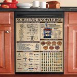 Scouting Knowledge Dishwasher Cover Sticker Kitchen Decor