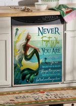 Mermaid Never Forget Who You Are Dishwasher Cover Sticker Kitchen Decor