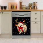 Pomeranian Gorgeous Reindeer Dishwasher Cover Sticker Kitchen Decor