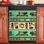Sewing Pattern Vintage Dishwasher Cover Sticker Kitchen Decor