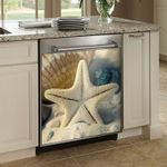 Lovely Starfish Dishwasher Cover Sticker Kitchen Decor