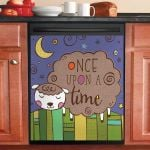 Sheep Once Upon A Time Dishwasher Cover Sticker Kitchen Decor