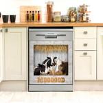 Moooood Dairy Cow Wooden Stable Dishwasher Cover Sticker Kitchen Decor