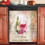 Rustic Tuscan Vintage Wine Design Dishwasher Cover Sticker Kitchen Decor