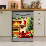 Pug Santa Gifts Dishwasher Cover Sticker Kitchen Decor