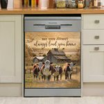 May Your Journey Always Lead You Home Dishwasher Cover Sticker Kitchen Decor