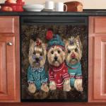 Pretty Yorkshire Terrier Dishwasher Cover Sticker Kitchen Decoration