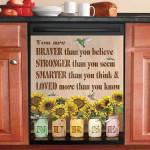 Nurse She Is Stronger Braver And Smarter Dishwasher Cover Sticker Kitchen Decor