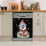 Penguin Hot Drink Christmas Dishwasher Cover Sticker Kitchen Decor