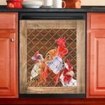 Rooster Chicken Rise And Shine Dishwasher Cover Sticker Kitchen Decor