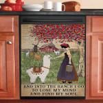 Lose My Mind Find My Soul Alpaca Farm Girl Dishwasher Cover Sticker Kitchen Decor
