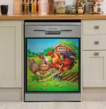 Picture Frame Chicken Dishwasher Cover Sticker Kitchen Decor