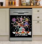Owl Let It Snow Dishwasher Cover Sticker Kitchen Decor