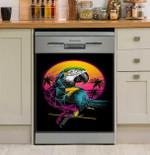 Rainbow Parrot Sunset Dishwasher Cover Sticker Kitchen Decoration