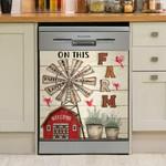 On This Farm Dishwasher Cover Sticker Kitchen Decor