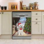 Old English Sheepdog Christmas House Dishwasher Cover Sticker Kitchen Decor