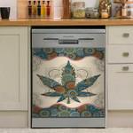 Mandala Weed Dishwasher Cover Sticker Kitchen Decor