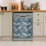 Saluki Seamless Style Dishwasher Cover Sticker Kitchen Decor