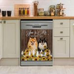 Pomeranian You And Me Dishwasher Cover Sticker Kitchen Decor