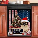 Merry Christmas French Bulldog Dishwasher Cover Sticker Kitchen Decor