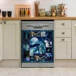 Moonsong Dragon Wolf Dishwasher Cover Sticker Kitchen Decor