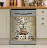 Lose Your Mind Vintage Guitar Dishwasher Cover Sticker Kitchen Decor