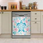 Sea Turtle Blue Marine Dishwasher Cover Sticker Kitchen Decoration