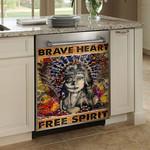 Native American Brave Heart Free Spirit Dishwasher Cover Sticker Kitchen Decor