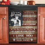 Police Dad I Love You Always And Forever Dishwasher Cover Sticker Kitchen Decor