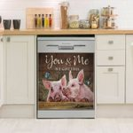 Pig You And Me Dishwasher Cover Sticker Kitchen Decor