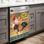 Rooster Rise And Shine Dishwasher Cover Sticker Kitchen Decor