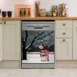 Miniature Schnauzer Tree Dishwasher Cover Sticker Kitchen Decor