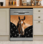 Love Horse Wind And Free Dishwasher Cover Sticker Kitchen Decor