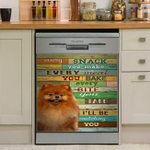 Pomeranian I Will Be Watching You Dishwasher Cover Sticker Kitchen Decor