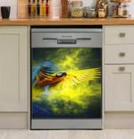Parrot Galaxy Art Dishwasher Cover Sticker Kitchen Decor