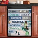 Mermaid Life Is Short Dishwasher Cover Sticker Kitchen Decor
