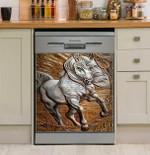 Sculpture Horse Pattern Dishwasher Cover Sticker Kitchen Decor