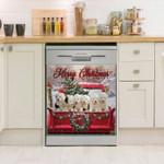 Old English Sheepdog Christmas Dishwasher Cover Sticker Kitchen Decor