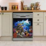 Ocean Marine Diversity Dishwasher Cover Sticker Kitchen Decor