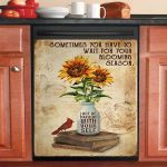 Reading Sunflower Be Patient With Yourself Dishwasher Cover Sticker Kitchen Decor