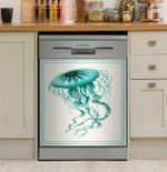 Mixed Nautical Turquoise On Cream Dishwasher Cover Sticker Kitchen Decoration
