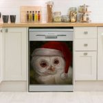 Owl Chrisrmas Dishwasher Cover Sticker Kitchen Decor