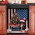 Merry Christmas Dachshund Christmas Tree Dishwasher Cover Sticker Kitchen Decor