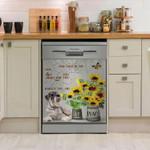 Miniature Schnauzer Vase Of Flowers Dishwasher Cover Sticker Kitchen Decor
