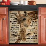 Never Forget That I Love You Giraffe Dishwasher Cover Sticker Kitchen Decor