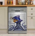 Octopus Nautical Hat Dishwasher Cover Sticker Kitchen Decor