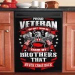 Proud Veteran But Do Not Thank Me Dishwasher Cover Sticker Kitchen Decor